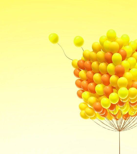 золотые шарики для праздников