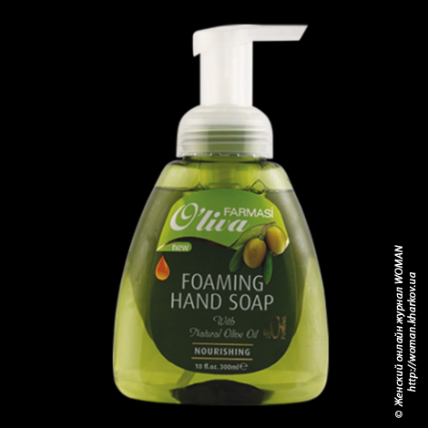 Пенообразное жидкое мыло Oliva