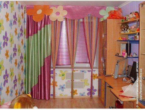 Нитяные шторы в детскую комнату